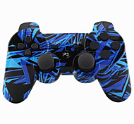 abordables -Joystick inalámbrico bluetooth dualshock3 sixaxis controlador recargable gamepad para ps3 (multicolor)