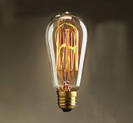40W ST58 Edison Incandescent Light Bulbs 19 E27 Silk Vertical Wire Retro Decorative Light Bulbs