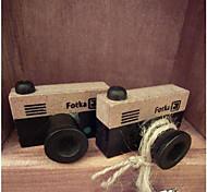baratos -selo padrão de madeira do vintage câmera (cores aleatórias)