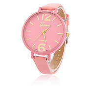 Women's Fashion Watch Casual Watch Quartz Leather Band Casual Black White Blue Red Yellow Beige