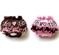 Недорогие -Коты Собаки Брюки Одежда для собак Зима Лето Весна/осень Вышивка Милые Кофейный Розовый