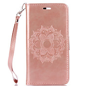 For Huawei P9 Lite P8 Lite Honor 8 Y6 II Y6 Y5 II Y5 PU Leather Material Datura Flowers Pattern Butterfly Phone Case