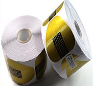 Недорогие -500pcs бумага держит подковы бумага держит маникюрные инструменты акрилы расширение фототерапии расширить пакет