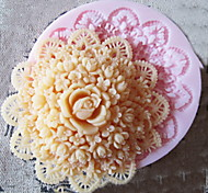 cheap -3D Round Flower Silicone Mold Fondant Molds Sugar Craft Tools Chocolate Mould  For Cakes