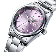 cheap -WWOOR Women's Quartz Wrist Watch Water Resistant / Water Proof Stainless Steel Band Charm Luxury Casual Fashion Silver