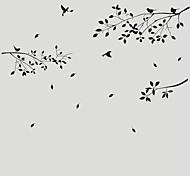decalques de parede adesivos de parede, parede de família árvore pássaro adesivos em pvc