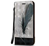 preiswerte -Hülle Für Samsung Galaxy J7 (2016) J5 (2016) Kreditkartenfächer Geldbeutel Flipbare Hülle Ganzkörper-Gehäuse Feder Hart PU-Leder für On 5