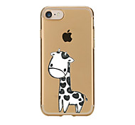 cheap -For Transparent Pattern Case Back Cover Case Lovely Giraffe Soft TPU for IPhone 7 7Plus iPhone 6s 6 Plus iPhone 6s 6 iPhone 5s 5 5E 5C