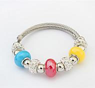 Women's Strand Bracelet Alloy Fashion Inspirational Orange Dark Blue Red Light Blue Jewelry 1pc