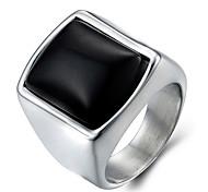 preiswerte -Herrn Onyx Ring / Statement-Ring - Modisch Silber Ring Für Alltag / Normal