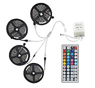 20m (4 * 5m) 5050 rgb 600 luces de tira flexibles de los LED no impermeabilizan la CC 12v 600leds con el kit teledirigido del regulador 44key