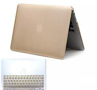 самым продаваемым металлический стиль ПВХ трудно полный случай тела и ТПУ чехол клавиатуры для MacBook Pro 13.3 дюйм (разных цветов)