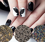 Mini 0.8mm Gardient Beads Shining Rhinestone 3D Nail Decoration for UV Gel Manicure Nail Art Decoration