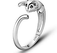 Damen Ring Einstellbar Ohne Verschluss Modeschmuck Aleación Tierform Katze Schmuck Für Alltag Normal