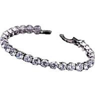 Women's Tennis Bracelet Fashion Luxury European Zircon Cubic Zirconia Copper Gold Plated Jewelry For Daily Casual Sports