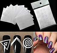 cheap -12 Diecut Manicure Stencil Fashion Daily High Quality