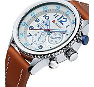 Men's Sport Watch Fashion Watch Wrist watch Quartz Calendar Genuine Leather Band Casual Luxury Multi-Colored
