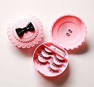 1Pcs Ladies Fashion Eco-Friendly False Eyelash Acrylic Flower  Storage Box Makeup Cosmetic Mirror Case Organizer