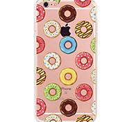 Недорогие -Кейс для Назначение Apple iPhone X iPhone 8 Plus Кейс для iPhone 5 iPhone 6 iPhone 7 С узором Кейс на заднюю панель Продукты питания