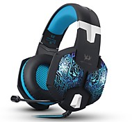 G1000 Stereo Over-ear Gaming Headset Headphones with 7 Colors Breathing LED Light With Microphone For Mac PC Computer