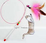 Недорогие -Игрушка для котов Игрушки для животных Дразнилки Игрушка с перьями Расклешенные текстильный Для домашних животных
