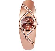 Femme Montre Tendance Montre Bracelet Quartz / Imitation de diamant Plaqué Or Rose Alliage Bande Pour tous les jours ElégantesMarron Or