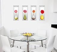 Мода Цветы 3D Наклейки Простые наклейки 3D наклейки Декоративные наклейки на стены,Бумага материал Украшение дома Наклейка на стену