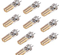 cheap -YWXLIGHT® 10pcs 4W 300-400 lm GY6.35 LED Bi-pin Lights T 36 leds SMD 3014 Warm White DC 24V AC 24V AC 12V DC 12V