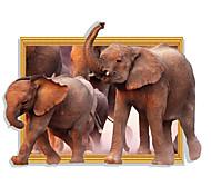 Недорогие -Животные Мода 3D Наклейки Простые наклейки 3D наклейки Декоративные наклейки на стены,Бумага материал Украшение дома Наклейка на стену