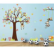 Недорогие -Животные Романтика Мода Наклейки Простые наклейки Декоративные наклейки на стены, Бумага Украшение дома Наклейка на стену Стена