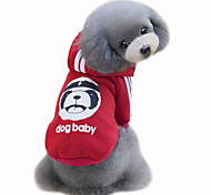 Dog Coat Hoodie Dog Clothes Winter Spring/Fall Bear Cute Fashion Sports Gray Yellow Rose Red Light Blue
