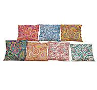 """набор из 7 европейских стиле ретро цветочные льняная подушка покрытия домашний офис декоративныеволосы (18 """"* 18"""")"""