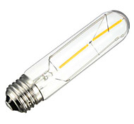 1PCS 2W E26/E27 LED Filament Bulbs T10 2 leds COB Decorative Dimmable Warm White 150-200lm 2300-2800K AC 220-240V