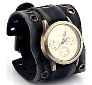 preiswerte -Herrn Modeuhr Armbanduhr Quartz / Leder Band Bequem Schwarz