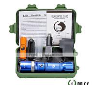 preiswerte -U'King LED Taschenlampen LED 2000 lm 5 Modus Cree XM-L T6 inklusive Batterie und Ladegeräten Zoomable- einstellbarer Fokus Abblendbar