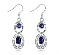 cheap -Women's Drop Earrings Crystal AAA Cubic Zirconia Zircon Cubic Zirconia Copper Silver Plated Glass Geometric Jewelry Daily Casual Costume