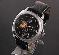 Муж. Спортивные часы Нарядные часы Модные часы Наручные часы Механические часы С автоподзаводом Натуральная кожа Группа С подвесками