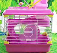 Hamster Plastic Cages White Coffee Blue Pink