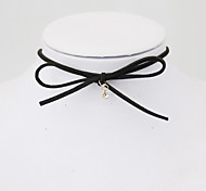 cheap -Women's Imitation Diamond Choker Necklace Tattoo Choker - Tattoo Style Fashion Bow Circle Bowknot Necklace For Party Daily Casual