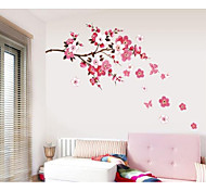 cheap -Romance Fashion Florals Wall Stickers Plane Wall Stickers Decorative Wall Stickers, Paper Home Decoration Wall Decal Wall