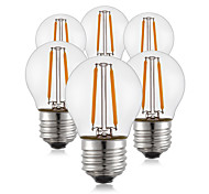 2W E26/E27 LED Filament Bulbs G45 2 leds COB Decorative Warm White 190lm 2700K AC 220-240V