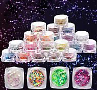 Недорогие -12 дополнительный цвет небольшой площади в штучной упаковке прижимаются симфония прозрачной ромба маленьких пайеток