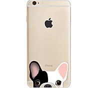 cheap -Case For Apple iPhone X iPhone 8 iPhone 5 Case iPhone 6 iPhone 7 Pattern Back Cover Dog Soft TPU for iPhone X iPhone 8 Plus iPhone 8