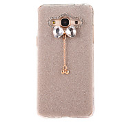 For Samsung Galaxy J7(2016) J5(2016) Case Cover Flash Powder Series DIY Bow Tie Diamond Pendant TPU Material Phone Case  J3 J3(2016)