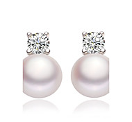cheap -Women's Imitation Pearl Imitation Pearl 1 Stud Earrings / Drop Earrings - White Earrings For Wedding / Party / Daily