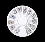 cheap -1 Rhinestones Metallic Fashion Lovely Cute Multi-shade Sparkling High Quality Daily Nail Art Design