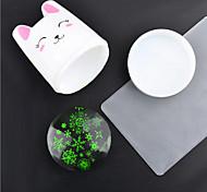 """Недорогие -1шт новый супер """"кролика белой ручкой прозрачной силиконовой инструмент уплотнения"""