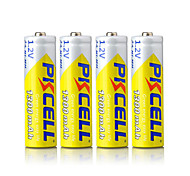 Pkcell Rechargeable AA 1300mAh 1.2V NiMH Battery 4 Pack