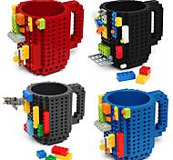 Недорогие -Питьевые строительные блоки кружки diy блок головоломка кружка caneca встроенный кирпич чашка тип кофе кружка