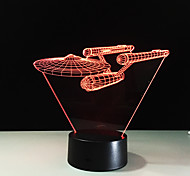 Звездные войны 3d визуальная акриловая лампа водить ночи свет для детей Star Trek военный корабль касания USB таблицы Lampara для детей 7